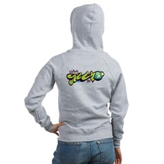 Think Green - Graffiti Women's Zip Hoodie