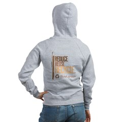 Reduce Reuse Recycle. Think G Women's Zip Hoodie