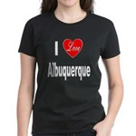 I Love Albuquerque (Front) Women's Dark T-Shirt