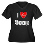 I Love Albuquerque (Front) Women's Plus Size V-Nec