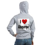 I Love Albuquerque (Back) Women's Zip Hoodie