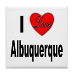 I Love Albuquerque Tile Coaster
