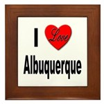 I Love Albuquerque Framed Tile