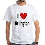 I Love Arlington (Front) White T-Shirt