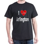 I Love Arlington (Front) Dark T-Shirt