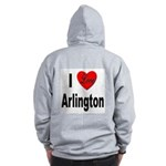 I Love Arlington (Back) Zip Hoodie
