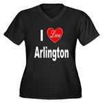 I Love Arlington (Front) Women's Plus Size V-Neck