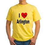 I Love Arlington Yellow T-Shirt