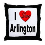 I Love Arlington Throw Pillow