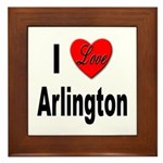 I Love Arlington Framed Tile