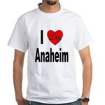 I Love Anaheim California (Front) White T-Shirt