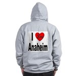 I Love Anaheim California (Back) Zip Hoodie