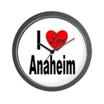 I Love Anaheim California Wall Clock