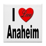 I Love Anaheim California Tile Coaster