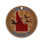 Idaho Birder Ornament (Round)