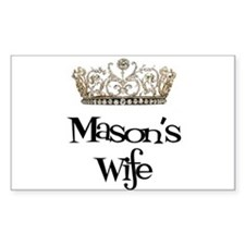 Mason's Wife Rectangle Decal