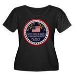 Navy Brother Women's Plus Size Scoop Neck Dark T-S