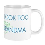 Too Young to be a Grandma Small Mugs