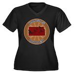 Kansas Birder Women's Plus Size V-Neck Dark T-Shir