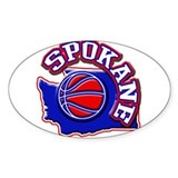 Spokane Basketball Oval Decal