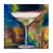 Funny Martini Tile Coaster