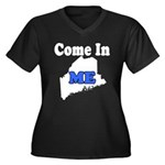 Maine, Come In! Women's Plus Size V-Neck Dark T-Sh