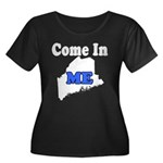 Maine, Come In! Women's Plus Size Scoop Neck Dark