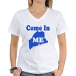 Maine, Come In! Women's V-Neck T-Shirt