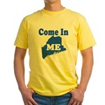 Maine, Come In! Yellow T-Shirt
