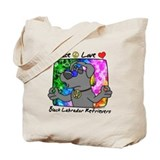 Hippie Black Lab Tote Bag