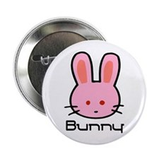 Pink Bunny Rabbit Button