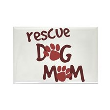 Rescue Dog Mom Rectangle Magnet (10 pack)