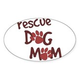 Rescue Dog Mom Oval  Aufkleber