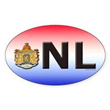 Netherlands (NL) Oval Decal