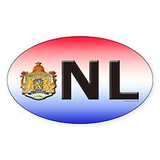 Netherlands (NL) Oval Stickers