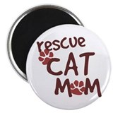 Rescue Cat Mom Magnet