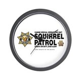 Squirrel Patrol Wall Clock