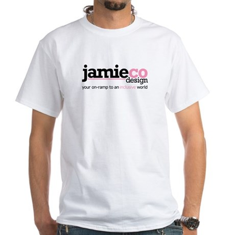 JamieCo Design Logo White T-Shirt