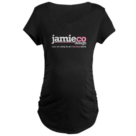 JamieCo Design Logo Maternity Dark T-Shirt