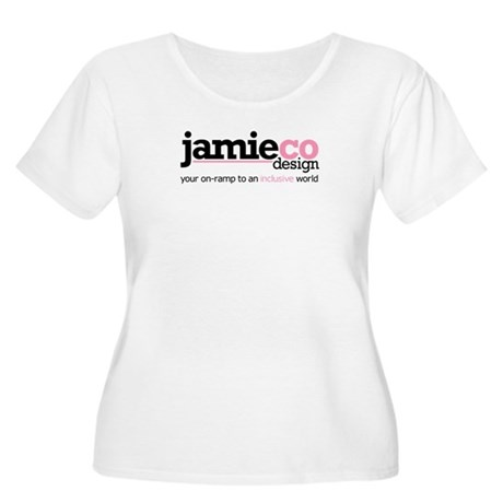JamieCo Design Logo Women's Plus Size Scoop Neck T