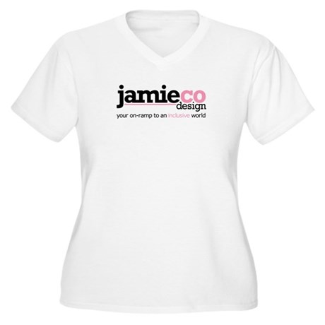 JamieCo Design Logo Women's Plus Size V-Neck T-Shi