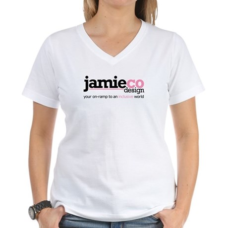 JamieCo Design Logo Women's V-Neck T-Shirt