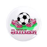 "Jillian Soccer 3.5"" Button"