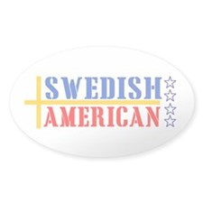 Swedish American Oval Decal
