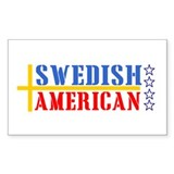 Swedish American Rectangle Decal