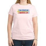 Swedish American Women's Pink T-Shirt