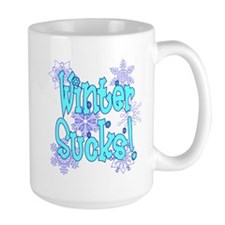 Winter Sucks! /blue Mug