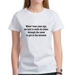 6 miles to the internet Women's T-Shirt