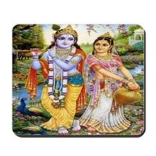 Krishna and Radha Mousepad