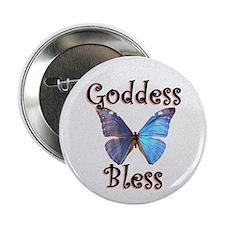 """""""Goddess Bless"""" 2.25"""" Button"""